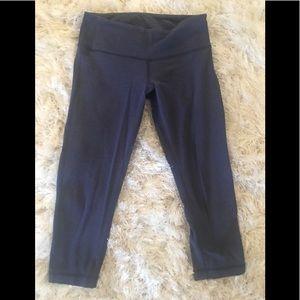 lululemon athletica Pants - LuLulemon Blue Cotton Crop Cycle Pants size 6